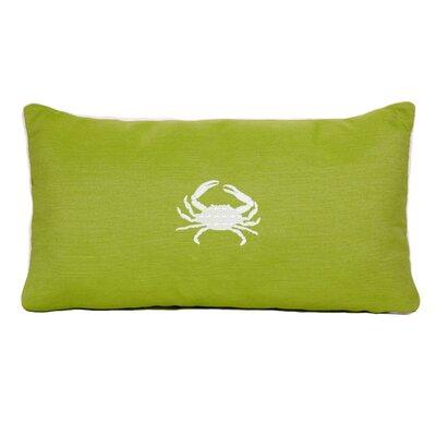 Wabasso Beach Beach Lumbar Pillow Color: Parrot Green