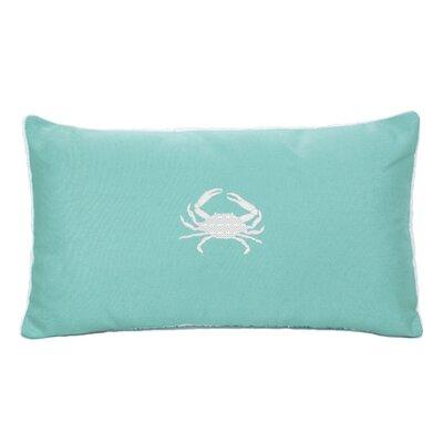 Wabasso Beach Beach Lumbar Pillow Color: Glacier Blue