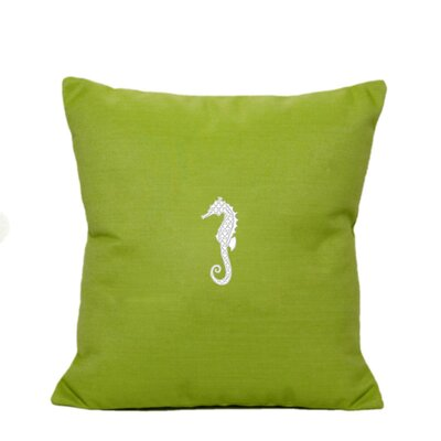 Centerburg Indoor/Outdoor Sunbrella Throw Pillow Size: 14 H x 14 W, Color: Parrot Green