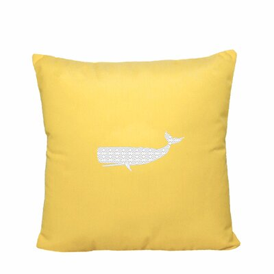 Sarasota Springs Indoor/Outdoor Sunbrella Throw Pillow Size: 18 H x 18 W, Color: Yellow