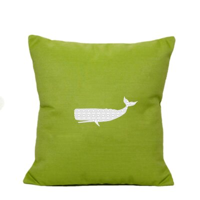 Sarasota Springs Indoor/Outdoor Sunbrella Throw Pillow Color: Parrot Green, Size: 18 H x 18 W