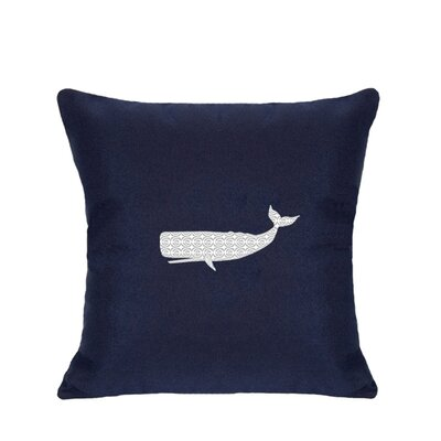 Sarasota Springs Indoor/Outdoor Sunbrella Throw Pillow Size: 14 H x 14 W, Color: Navy