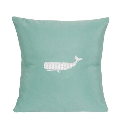 Sarasota Springs Indoor/Outdoor Sunbrella Throw Pillow Color: Glacier Blue, Size: 18 H x 18 W