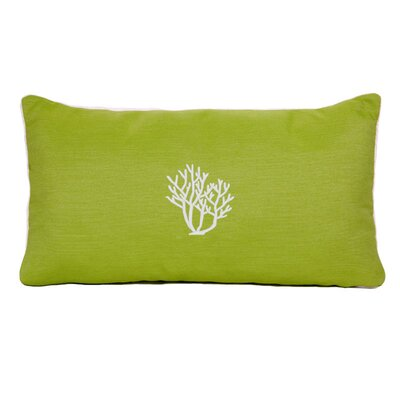 Land O Lakes Beach Sunbrella Outdoor Lumbar Pillow Color: Parrot Green