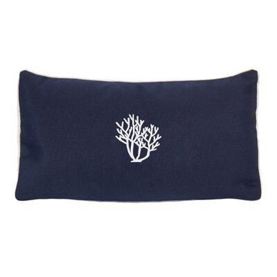 Land O Lakes Beach Sunbrella Outdoor Lumbar Pillow Color: Navy