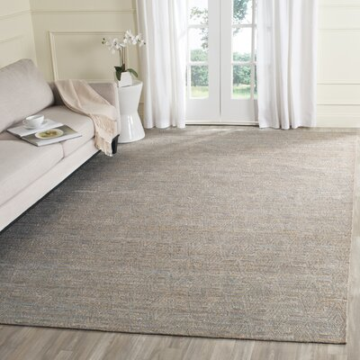 Aderyn Hand-woven Gray/Sand Area Rug Rug Size: Rectangle 9 x 12