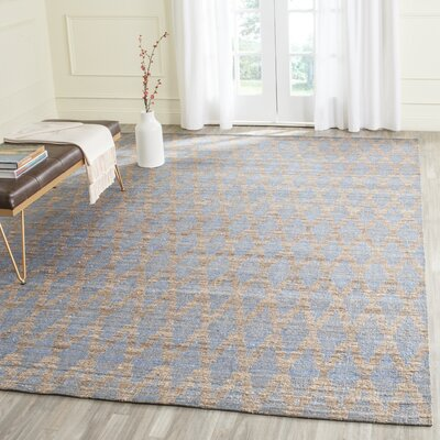 Meigs Light Blue/Gold Area Rug Rug Size: 2 x 3