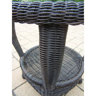 Claremont Wicker Side Table Finish: Black