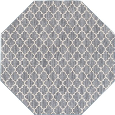 Chesterville Gray/Beige Indoor/Outdoor Area Rug Rug Size: Octagon 6