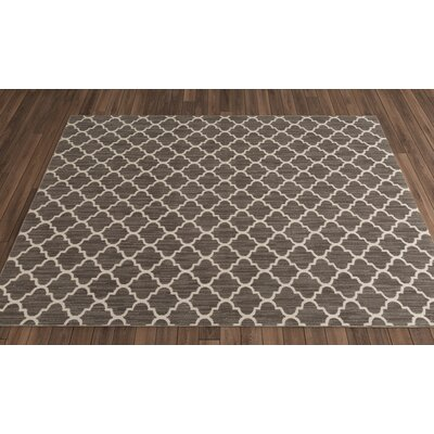 Central Volusia Gray Indoor/Outdoor Area Rug Rug Size: Round 8'