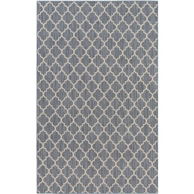 Chesterville Gray/Beige Indoor/Outdoor Area Rug Rug Size: Rectangle 12 x 18