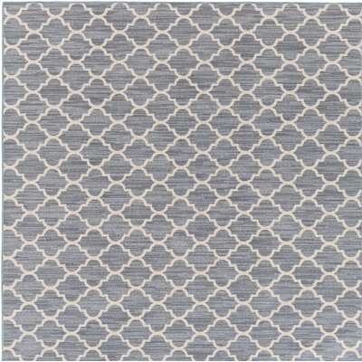 Chesterville Gray/Beige Indoor/Outdoor Area Rug Rug Size: Square 8