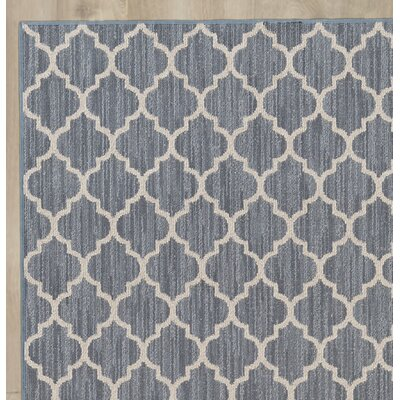 Chesterville Gray/Beige Indoor/Outdoor Area Rug Rug Size: Round 8