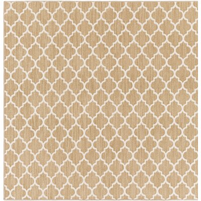 Central Volusia Beige Indoor/Outdoor Area Rug Rug Size: Square 6