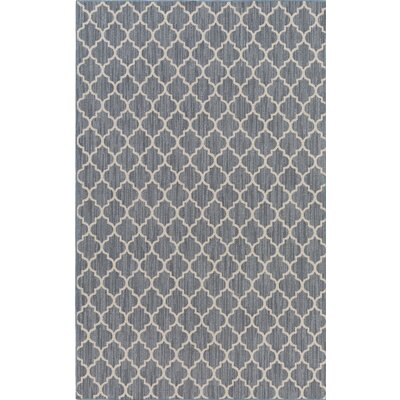 Chesterville Gray/Beige Indoor/Outdoor Area Rug Rug Size: Rectangle 8 x 11