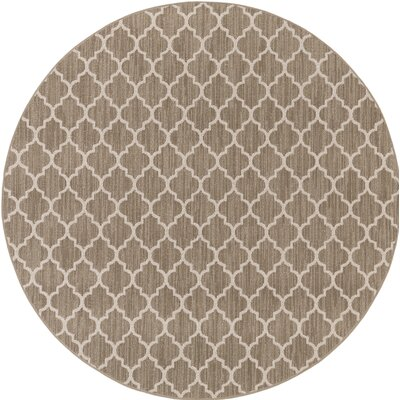 Central Volusia Beige Indoor/Outdoor Area Rug Rug Size: Round 6