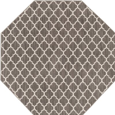 Central Volusia Gray Indoor/Outdoor Area Rug Rug Size: Octagon 6
