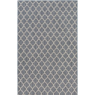 Chesterville Gray/Beige Indoor/Outdoor Area Rug Rug Size: 6 x 9