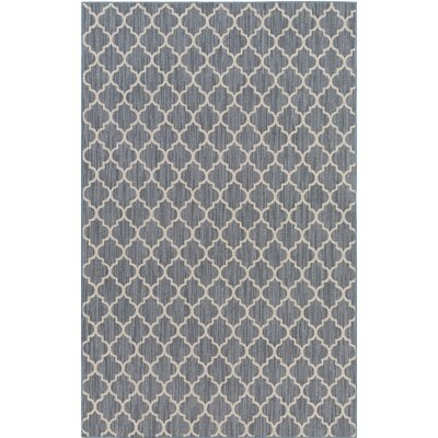 Chesterville Gray/Beige Indoor/Outdoor Area Rug Rug Size: 5 x 7