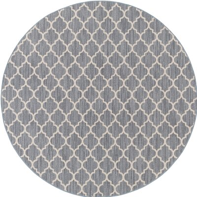Chesterville Gray/Beige Indoor/Outdoor Area Rug Rug Size: Round 6