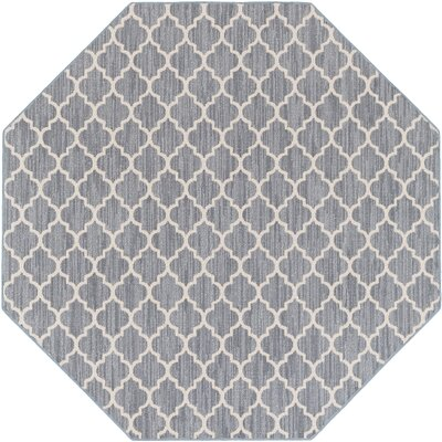 Chesterville Gray/Beige Indoor/Outdoor Area Rug Rug Size: Octagon 8