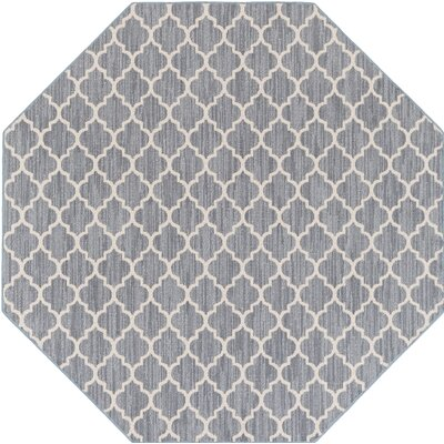 Chesterville Gray/Beige Indoor/Outdoor Area Rug Rug Size: Octagon 4