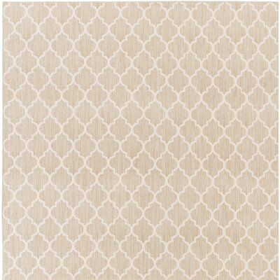Central Volusia Beige Area Rug Rug Size: Square 6