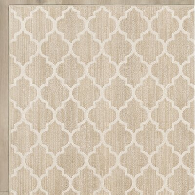 Central Volusia Beige Area Rug Rug Size: Round 10