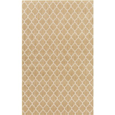 Central Volusia Beige Indoor/Outdoor Area Rug Rug Size: 5 x 8