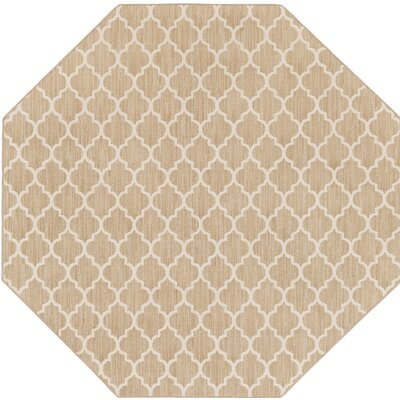 Central Volusia Beige Indoor/Outdoor Area Rug Rug Size: Octagon 6