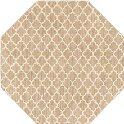 Central Volusia Beige Indoor/Outdoor Area Rug Rug Size: Octagon 4