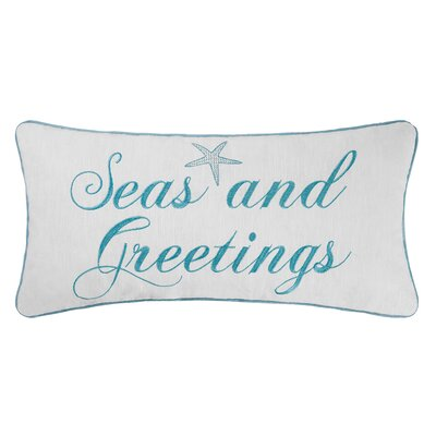 Seasand Greetings Lumbar Pillow