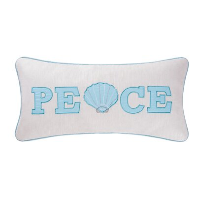 Embroidered Peace Lumbar Pillow