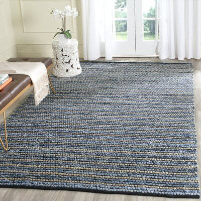 Cypress Quarters Hand-woven Blue/Natural Area Rug Size: Rectangle 4 x 4