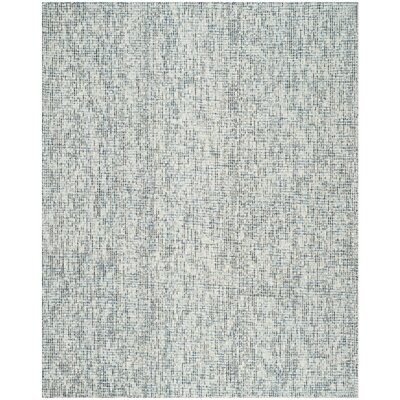 Hand-Tufted Gray Area Rug Rug Size: 4 x 6
