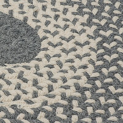 Melody Hand-Woven Gray Area Rug Rug Size: Round 4