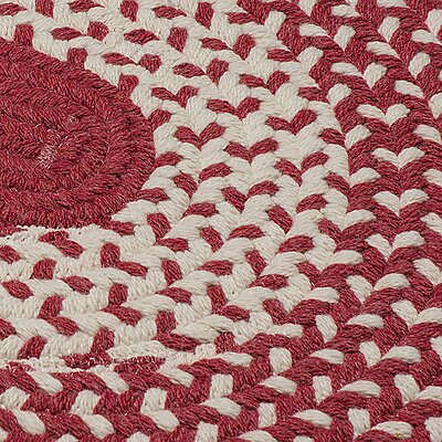 Quigley Hand-Woven Red Area Rug Rug Size: Round 12