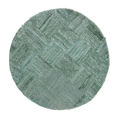 Millia Hand-Tufted Green Area Rug Rug Size: Round 4