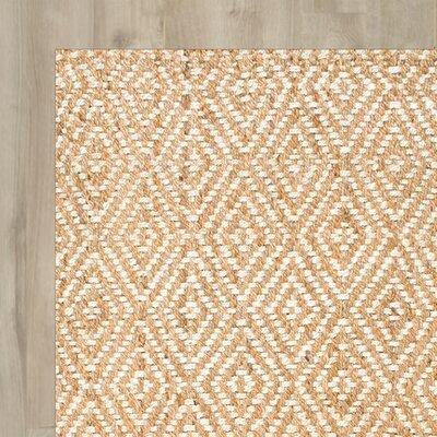 Harwyn Hand-Woven Tan Area Rug Rug Size: 86 x 116