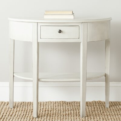 North De Land Console Table Color: White