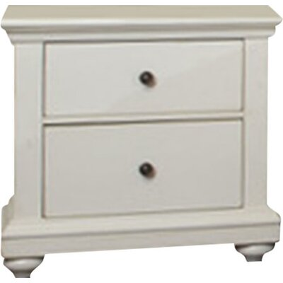 Woodminster 2 Drawer Nightstand Finish: Antique White