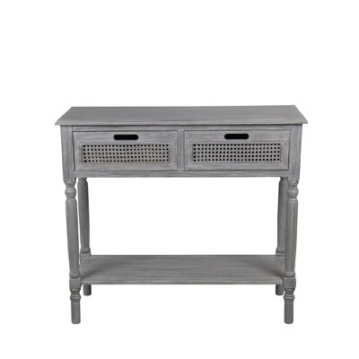Rensfield 2 Drawer Console Table Finish: Slate Gray