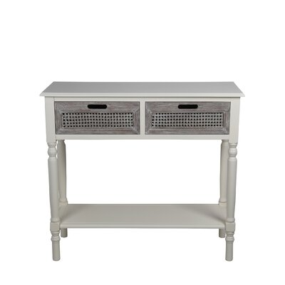 Stewart 2 Drawer Console Table Finish: Cream Melody