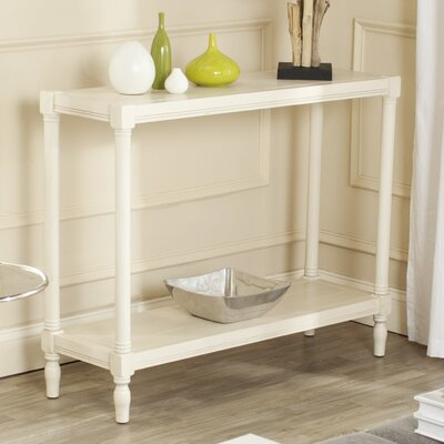 Belville Console Table Color: White