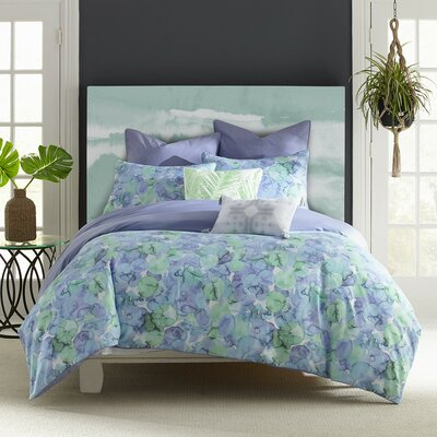 Eile Sea of Glass Duvet Cover Size: King