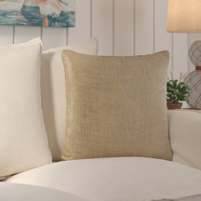 Laurel Cotton Throw Pillow Color: Natural