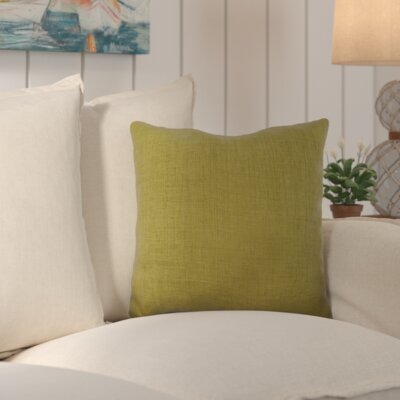 Palmetto Outdoor Pillow Size: 18 H x 18 H x 4 D, Color: Aloe Vera