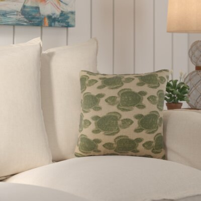 Sandlewood Turtles Burlap Throw Pillow