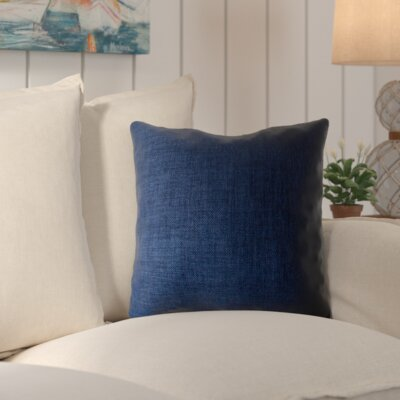 Palmetto Outdoor Pillow Size: 18 H x 18 H x 4 D, Color: Midnight Blue