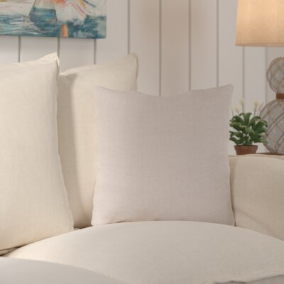 Palmetto Solid Indoor/Outdoor Pillow Size: 22 H x 22 H x 4 D, Color: Parchment